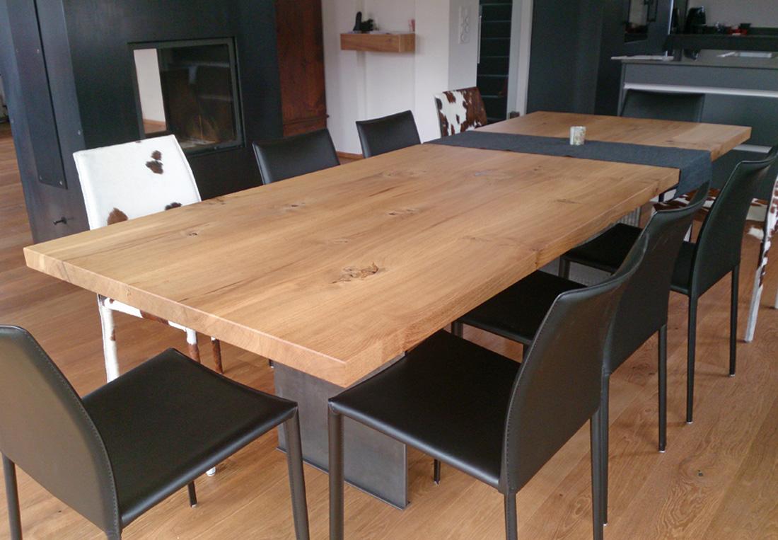 Eiche rustikal tisch for Tisch design eiche
